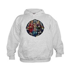 The Crowning of Mary in stained glass Hoodie