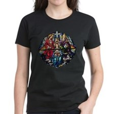 The Crowning of Mary in stained glass Tee