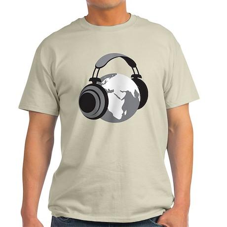 World Headphones Light T-Shirt