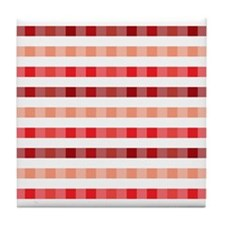 red plaid Tile Coaster