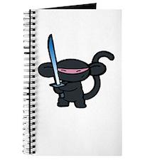 Black Minky with Shiny Sword Journal