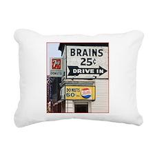 Brains Rectangular Canvas Pillow