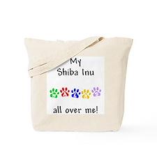 Shiba Inu Walks Tote Bag
