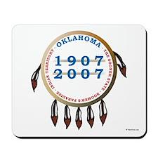 Oklahoma Centennial Shield Mousepad