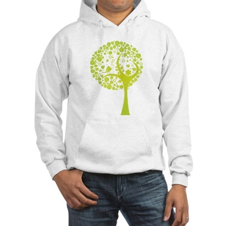 Green Tree Hooded Sweatshirt