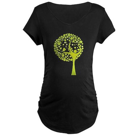 Green Tree Maternity Dark T-Shirt