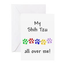 Shih Tzu Walks Greeting Cards (Pk of 10)