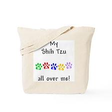 Shih Tzu Walks Tote Bag