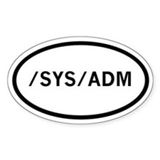 sysadmin Oval Decal
