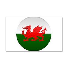 Welsh Button Car Magnet 20 x 12