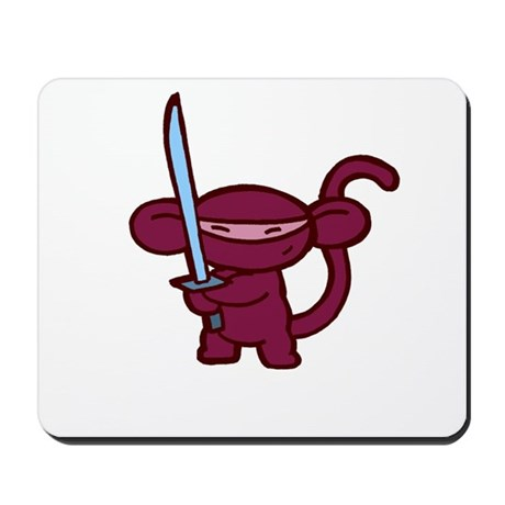 Red Ninja Minky Mousepad