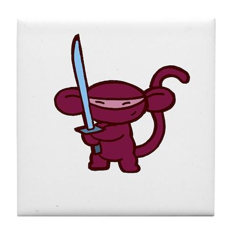 Red Ninja Minky Tile Coaster
