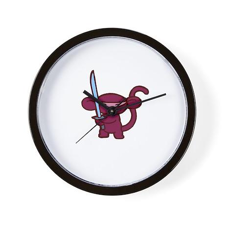 Red Ninja Minky Wall Clock