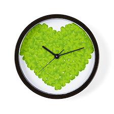 Clover Heart Wall Clock