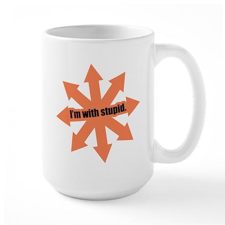 Im with stupid Large Mug