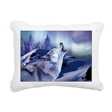 Winter Wolf Rectangular Canvas Pillow