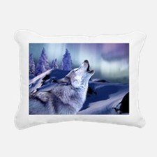 Winter Wolf Rectangular Canvas Pillow