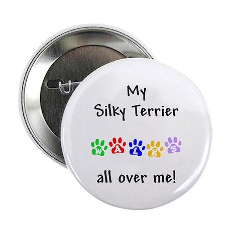 Silky Terrier Walks Button