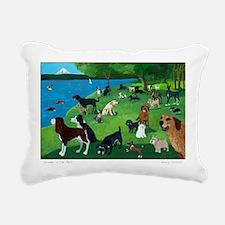 Cute Dog Rectangular Canvas Pillow