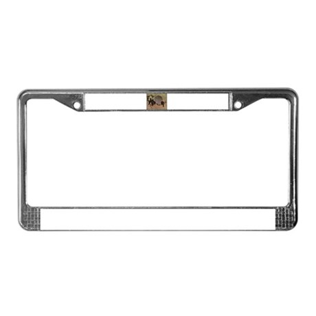 Japanese Bird Art License Plate Frame