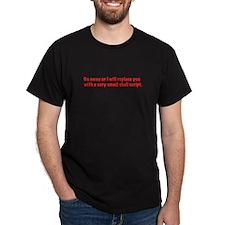 shell script Black T-Shirt