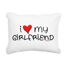 I Heart My Girlfriend Rectangular Canvas Pillow