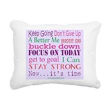 Inspirational Words Rectangular Canvas Pillow