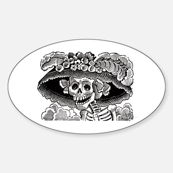 La Calavera Catrina Oval Decal