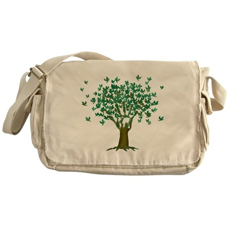 Peace Tree Messenger Bag