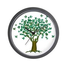 Peace Tree Wall Clock