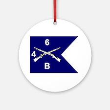 B Co. 4/6th Ornament (Round)