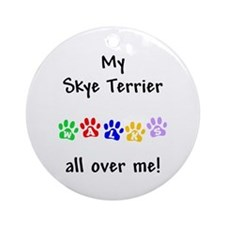 Skye Terrier Walks Ornament (Round)