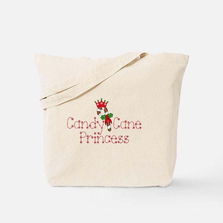 Candy Cane Princess Tote Bag