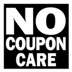 No Coupon Care Square Car Magnet 3