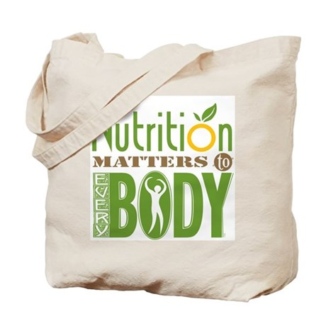 "Tote Bag - Nutrition Matters To Every ""BODY"""