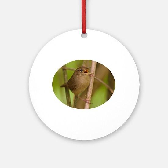 wren singing Ornament (Round)