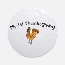 My First Thanksgiving Ornament (Round)