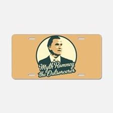 Romney the Outsorcerer Aluminum License Plate
