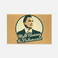 Romney the Outsorcerer Rectangle Magnet