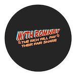 Rich Myth Romney Round Car Magnet