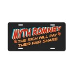 Rich Myth Romney Aluminum License Plate