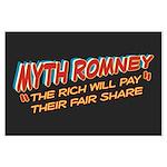 Rich Myth Romney Large Poster
