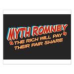Rich Myth Romney Small Poster