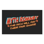 Rich Myth Romney Sticker (Rectangle 10 pk)