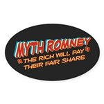 Rich Myth Romney Sticker (Oval 10 pk)