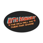 Rich Myth Romney Oval Car Magnet