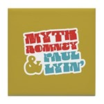 Myth Romney Paul Lyin Tile Coaster