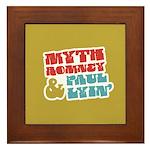 Myth Romney Paul Lyin Framed Tile