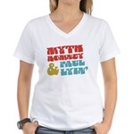 Myth Romney Paul Lyin Women's V-Neck T-Shirt