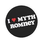 "I Heart Myth Romney 3.5"" Button (100 pack)"